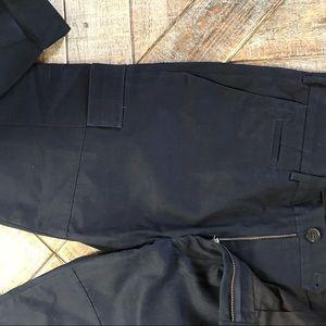 Club Monaco Cotton Navy Cargo Shorts. Size 33/32